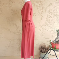 Vintage - Baruch 1950's Cranberry Midi Dress