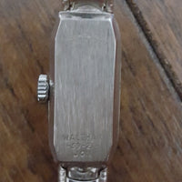 Vintage - 60's Waltham Etched Thin Silver Watch