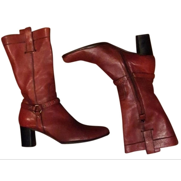 CNC Costume National - 1990's Burgundy Red Boots