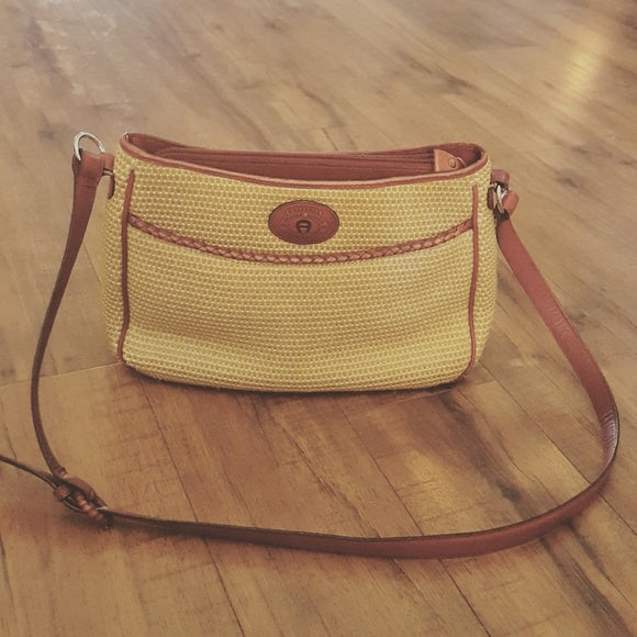 Etienne Aigner - Vintage Straw & Leather Bag