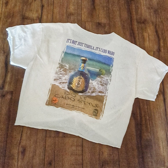 Vintage - Cabo Wabo White Distressed Tee