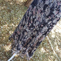 Vintage - Charter Club Silk Floral Wrap Skirt