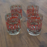 Vintage - Cora House Christmas Tumblers Set of 4