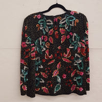 Vintage - Silk Beaded & Sequin Blouse