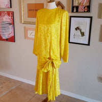 Argenti -1980's Silk Tiered Drop Waist Dress