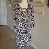 Calvin Klein - 1990s Leopard Shift Dress