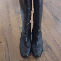 Vintage - 1990's Black Leather Knee High Boots