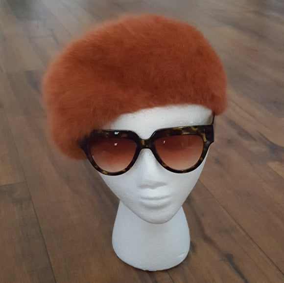 Vintage - Kangol Burnt Orange Angora Beret