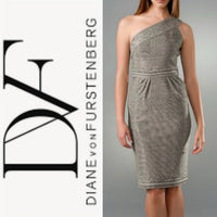 DVF - 1990s Sirabe One Shoulder Midi Dress