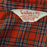 Twixteen - 1970's Red Plaid Button Down