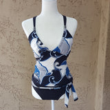 Perry Ellis - Vintage Blue & Black Tankini