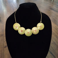 Vintage - 1960s Brass Hand Painted Chocker