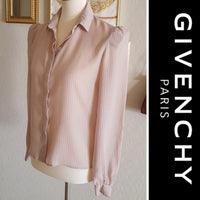 Givenchy - 1970's Vintage Pinstripe Blouse