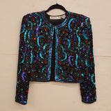 Vintage Scala - Bolero Silk Sequin Jacket