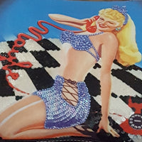 Isabella Fiore -Vintage Pin Up Girl Sequin & Bead Handbag
