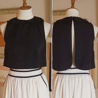 Vintage - 90's Peter Pan Collar Crop Top