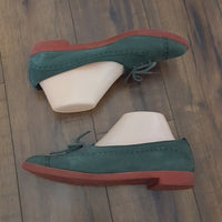 Liz Claiborne - Vintage Forest Green Suede Oxfords