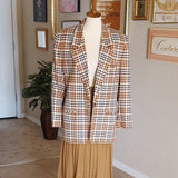 Vintage - JH Collectibles Camel Dress Stewart Plaid Jacket