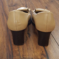 Coup D'etat Ltd - Tan Loafer Block Heels