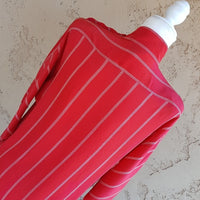 Vintage - Maggy London Red Stripe Silk Dress