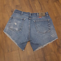 Vintage Wrangler High Rise Distressed Jean Shorts