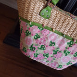 Tinsley Blake Collection - Pink Straw Tote