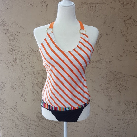 Ralph Lauren - Vintage Orange Striped Tankini