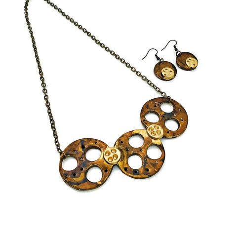 Steampunk Jewelry Set - Sassy Sacha Jewelry