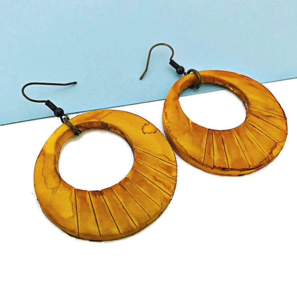 Big Yellow Earrings - Sassy Sacha Jewelry