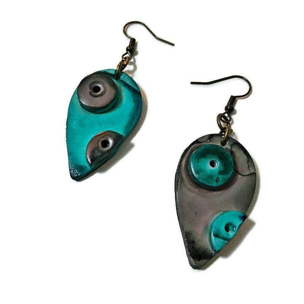 Mismatched Painted Earrings - Sassy Sacha Jewelry