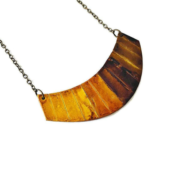 Mustard & Brown Statement Necklace - Sassy Sacha Jewelry