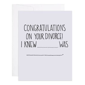 Divorce Congrats