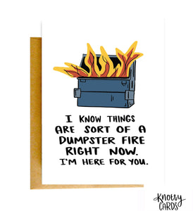 Knotty Dumpster Fire Card