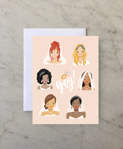 Yay! Bride - A2 Greeting Card