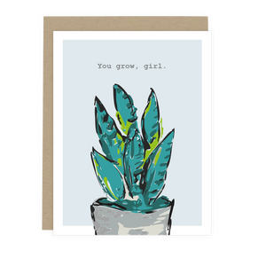 You Grow Girl Note Card
