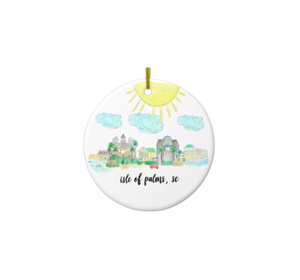 Isle of Palms Porcelain Ornament