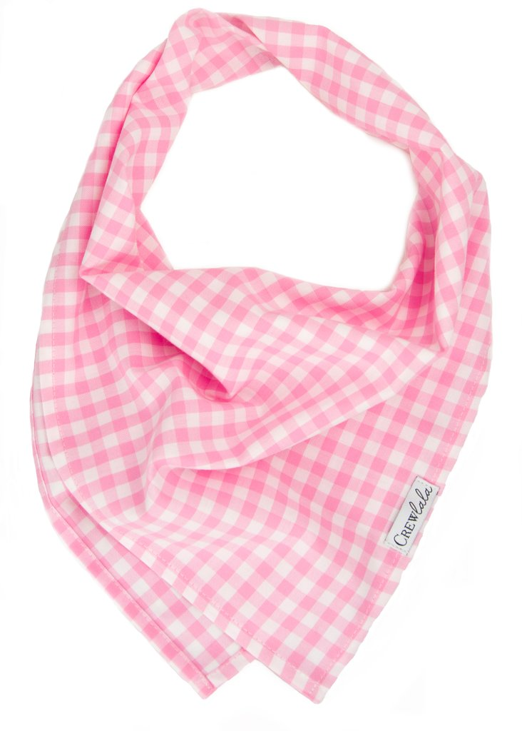 Pink Gingahm Dog Bandana