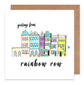 Greetings From Rainbow Row Greeting Card