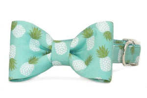 Pineapple Dog Bow Tie Collar
