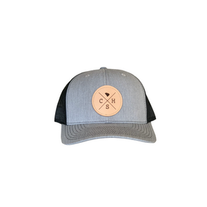 Charleston Trucker Hat Gray & Black