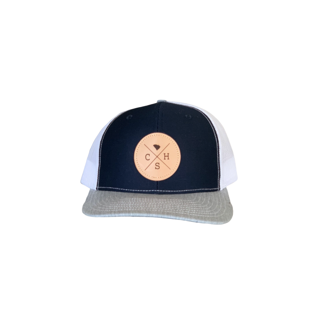 Charleston Trucker Hat Navy & White