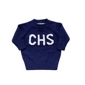 Children's CHS Sweater Navy & White
