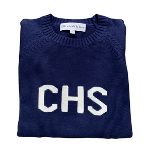 Women's CHS Sweater Navy & White