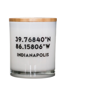CUSTOMIZABLE City Coordinates Soy Candle