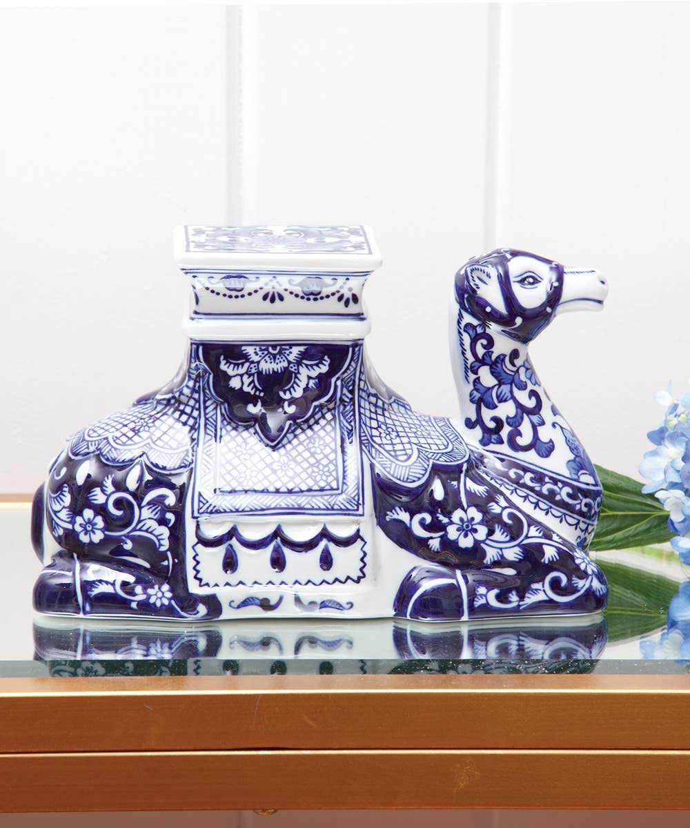 Blue Chinoiserie Camel