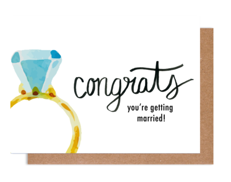 Congrats Engagement Greeting Card