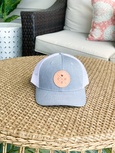 Charleston Trucker Hat Light Gray