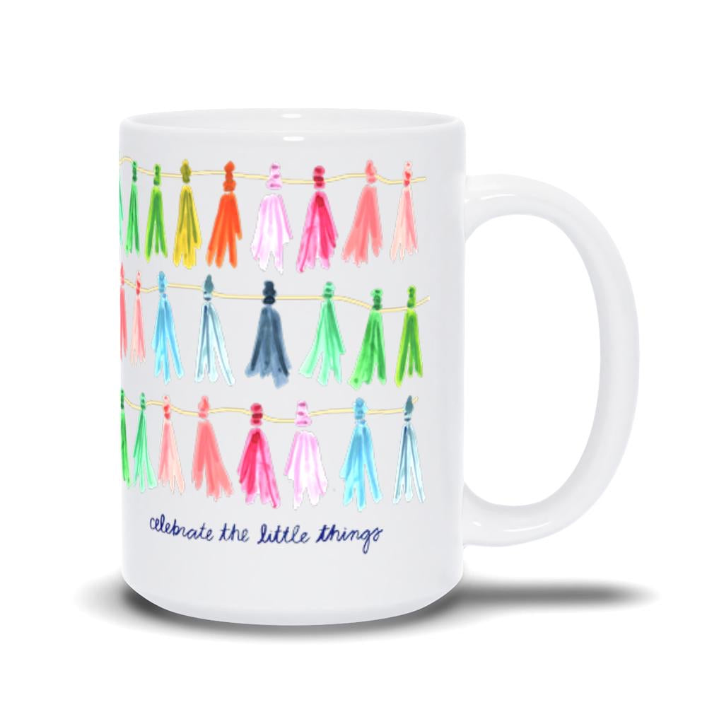 Evelyn Henson Mug- tassel celebrate the little things