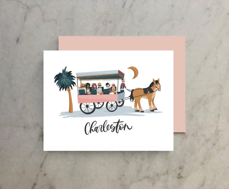 Charleston Horse & Carriage Card