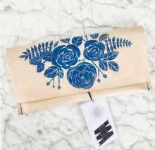 Load image into Gallery viewer, Indigo Bee Leather Clutch